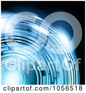 Royalty Free Vector Clip Art Illustration Of An Abstract Blue Tunnel Background