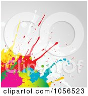Royalty Free Vector Clip Art Illustration Of A Background Of Splatters On Gray