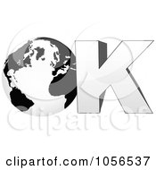 Royalty Free Vector Clip Art Illustration Of A 3d Globe In The Word Ok 1 by Andrei Marincas