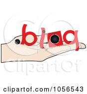 Royalty Free Vector Clip Art Illustration Of A Hand Holding A Blog Offer by Andrei Marincas