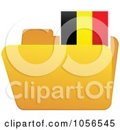 Royalty Free Vector Clip Art Illustration Of A Yellow Folder With A Belgium Flag Tab by Andrei Marincas