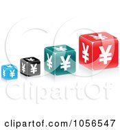Royalty Free Vector Clip Art Illustration Of A Digital Collage Of Yen Cubes