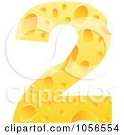 Royalty Free Vector Clip Art Illustration Of A Cheese Textured Number 2 Two by Andrei Marincas