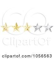 Royalty Free Vector Clip Art Illustration Of A Golden Three Star Rating Border