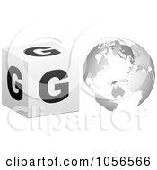 Royalty Free Vector Clip Art Illustration Of A 3d Go With A Globe As The O 2 by Andrei Marincas