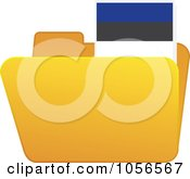 Royalty Free Vector Clip Art Illustration Of A Yellow Folder With An Estonian Flag Tab