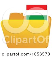 Royalty Free Vector Clip Art Illustration Of A Yellow Folder With A Hungary Flag Tab