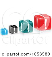 Royalty Free Vector Clip Art Illustration Of A Digital Collage Of Exclamation Point Cubes by Andrei Marincas
