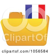Royalty Free Vector Clip Art Illustration Of A Yellow Folder With A French Flag Tab by Andrei Marincas