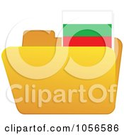 Royalty Free Vector Clip Art Illustration Of A Yellow Folder With A Bulgaria Flag Tab