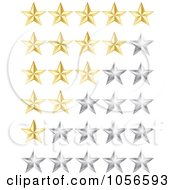 Royalty Free Vector Clip Art Illustration Of A Digital Collage Of Golden And Silver Rating Stars
