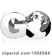 Royalty Free Vector Clip Art Illustration Of A 3d Go With A Globe As The O 1 by Andrei Marincas