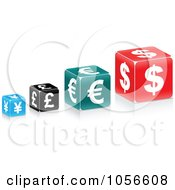 Royalty Free Vector Clip Art Illustration Of A Digital Collage Of Currency Cubes