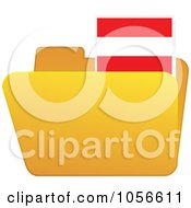 Royalty Free Vector Clip Art Illustration Of A Yellow Folder With An Austria Flag Tab by Andrei Marincas