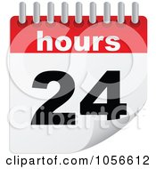 Royalty Free Vector Clip Art Illustration Of A 24 Hours Turning Calendar by Andrei Marincas