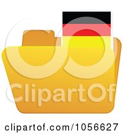 Royalty Free Vector Clip Art Illustration Of A Yellow Folder With A German Flag Tab by Andrei Marincas
