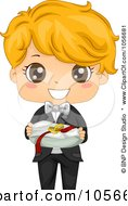 Royalty Free Vector Clip Art Illustration Of A Cute Ring Bearer Boy by BNP Design Studio
