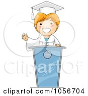 Royalty Free Vector Clip Art Illustration Of A Graduate Boy Giving A Speech