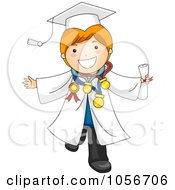 Royalty Free Vector Clip Art Illustration Of A Graduate Boy With Many Awards