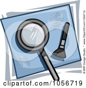 Royalty Free Vector Clip Art Illustration Of An Investigation Icon by BNP Design Studio
