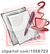 Royalty Free Vector Clip Art Illustration Of A Writer Icon