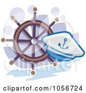 Royalty Free Vector Clip Art Illustration Of A Sailing Icon by BNP Design Studio