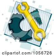 Royalty Free Vector Clip Art Illustration Of A Mechanic Icon by BNP Design Studio