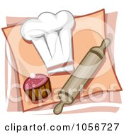 Royalty Free Vector Clip Art Illustration Of A Bakery Icon by BNP Design Studio