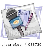 Royalty Free Vector Clip Art Illustration Of A Media Icon