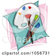 Royalty Free Vector Clip Art Illustration Of An Artist Icon