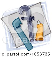 Royalty Free Vector Clip Art Illustration Of A Plumber Icon
