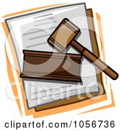 Royalty Free Vector Clip Art Illustration Of A Legal Icon