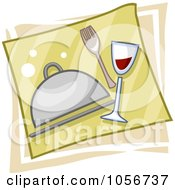 Royalty Free Vector Clip Art Illustration Of A Catering Icon by BNP Design Studio