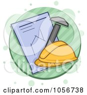 Royalty Free Vector Clip Art Illustration Of An Architecture Icon