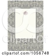 Royalty Free Vector Clip Art Illustration Of An Ornate Floral And Beige Invitation Or Background 2