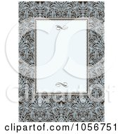 Royalty Free Vector Clip Art Illustration Of An Ornate Floral And Beige Invitation Or Background 1