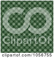 Green And White Seamless Clover Background Pattern