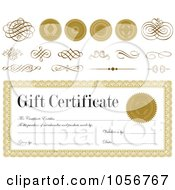 Royalty Free Vector Clip Art Illustration Of A Digital Collage Of Gift Certificate Design Elements 1 by BestVector