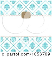 Royalty Free Vector Clip Art Illustration Of A Blue Diamond Floral Pattern Invitation Or Background With Copyspace 3