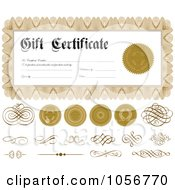 Royalty Free Vector Clip Art Illustration Of A Digital Collage Of Gift Certificate Design Elements 3 by BestVector