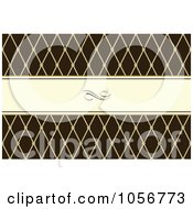 Royalty Free Vector Clip Art Illustration Of A Diamond Patterned Frame And Brown Invitation Or Background With Copyspace