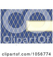 Royalty Free Vector Clip Art Illustration Of A Diamond Patterned Frame And Blue Invitation Or Background With Copy Space