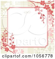 Royalty Free Vector Clip Art Illustration Of A Red Floral Branch Border Invitation Or Background With Copyspace