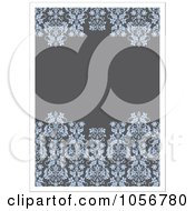 Royalty Free Vector Clip Art Illustration Of A Gray And Blue Floral Invitation Or Background