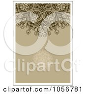 Royalty Free Vector Clip Art Illustration Of A Brown Ornamental Invitation Or Background