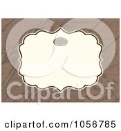 Royalty Free Vector Clip Art Illustration Of A Wooden Patterned Invitation Or Background With Copyspace