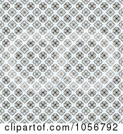 Royalty Free Vector Clip Art Illustration Of A Brown And Pastel Blue Seamless Clover Background Pattern