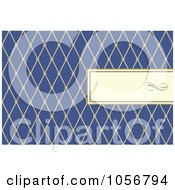 Royalty Free Vector Clip Art Illustration Of A Diamond Patterned Frame And Blue Invitation Or Background With Copyspace