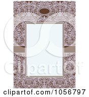 Royalty Free Vector Clip Art Illustration Of An Ornate Floral And Beige Invitation Or Background 3