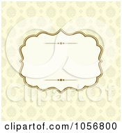 Royalty Free Vector Clip Art Illustration Of A Beige Victorian Patterned Invitation Or Background With Copyspace